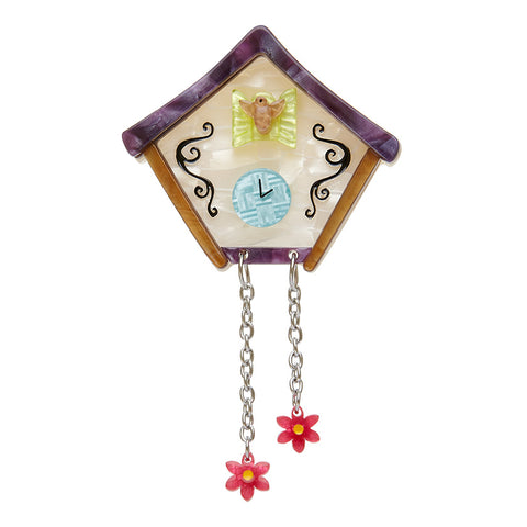 THE NIGHT BEFORE BROOCH (Erstwilder Resin Clock Brooch) - Glitterally.co.uk