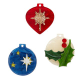 TRINKET TRIO BROOCH SET (Erstwilder Resin Baubbles Brooch) - Glitterally.co.uk