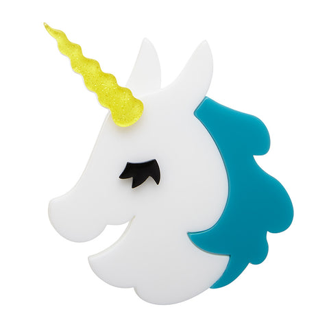 HORN TO BE WILD (Erstwilder unicorn brooch) - Glitterally.co.uk