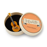 Flamenco Guitarra Brooch (Erstwilder Resin flamenco guitar brooch) - Glitterally.co.uk