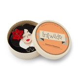 Muy Bonita Brooch (Erstwilder Resin Spanish senorita face brooch) - Glitterally.co.uk