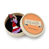 Lady Andalusia Brooch (Erstwilder Resin Spanish senorita figure brooch) - Glitterally.co.uk