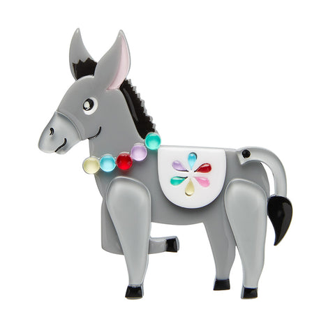 Brave Burro Brooch (Erstwilder Resin Spanish donkey brooch) - Glitterally.co.uk