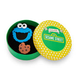 Cookie Monster Brooch (Erstwilder Sesame Street Cookie Monster Resin Brooch) - Glitterally.co.uk