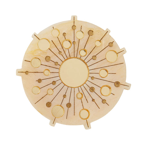 BURST OF SUN BROOCH (Erstwilder Resin Brooch) - Glitterally.co.uk