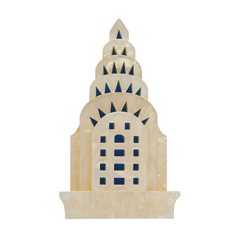 MANHATTEN MONUMENT BROOCH (Erstwilder Resin Brooch) - Glitterally.co.uk