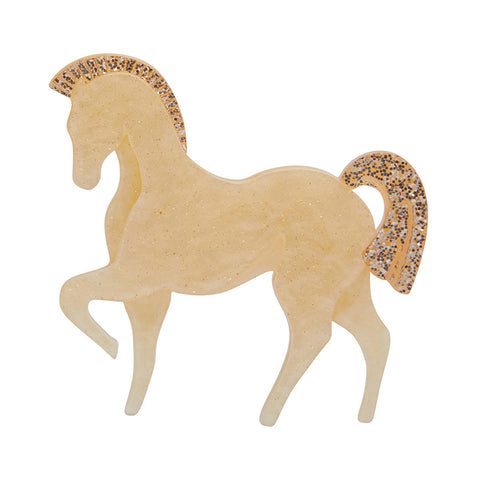 FRIESIAN FANCY BROOCH (Erstwilder Horse Resin Brooch) - Glitterally.co.uk