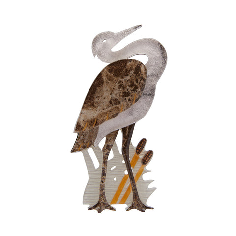 Avian Adore Heron Brooch (Erstwilder Resin Brooch) - Glitterally.co.uk