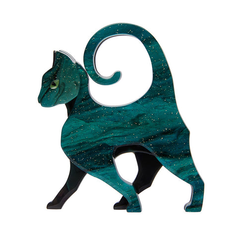 ON THE PROWL CAT (Erstwilder Resin Cat Brooch) - Glitterally.co.uk