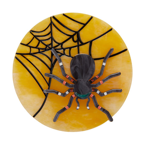 Itsy Bitsy Spider Brooch (Erstwilder Resin Spider Brooch) - Glitterally.co.uk