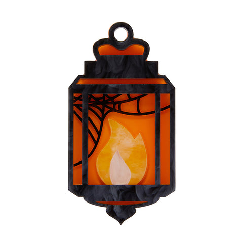Guiding Light Lantern Brooch (Erstwilder Resin Halloween Lantern Brooch) - Glitterally.co.uk