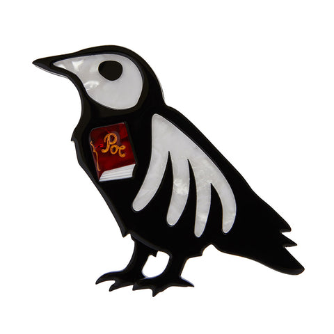 RIP Raven Brooch (Erstwilder Bone Brigade Halloween 2019 Brooch) - Glitterally.co.uk