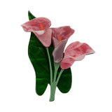 BEAUTY BLOOMS (Erstwilder Resin Calla Lily Brooch) - Glitterally.co.uk