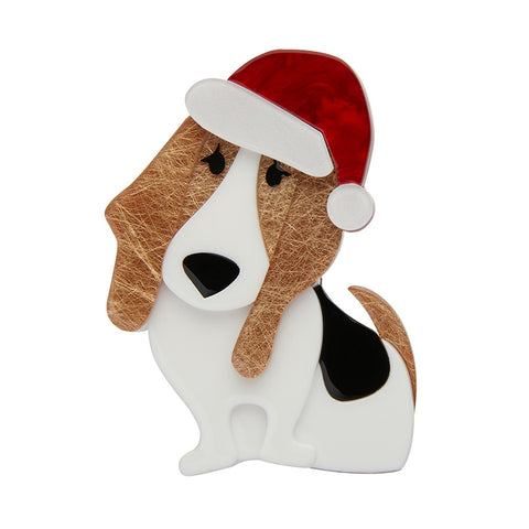 Barney's First Christmas Brooch (Erstwilder Resin Dog Brooch) - Glitterally.co.uk