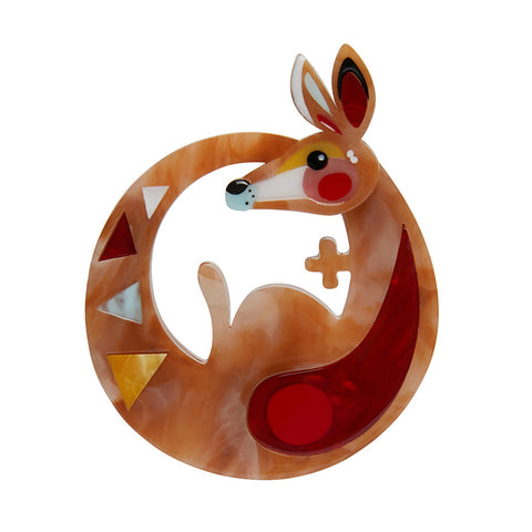 THE KINETIC KANGAROO (Erstwilder Pete Cromer resin brooch) - Glitterally.co.uk