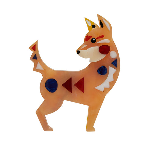 THE DAPPER DINGO (Erstwilder Pete Cromer resin brooch) - Glitterally.co.uk