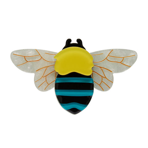 TO BEE OR NOT TO BEE (Erstwilder Resin Bee Brooch) - Glitterally.co.uk