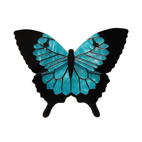BLUE EMPEROR (Erstwilder Resin Butterfly Brooch) - Glitterally.co.uk