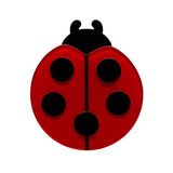 OUR LADY'S BIRD (Erstwilder Resin Ladybird Brooch) - Glitterally.co.uk