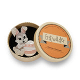 KIT & EGG (Erstwilder Resin Bunny Brooch) - Glitterally.co.uk