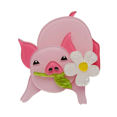 WILBUR THE WONDER PIG (Erstwilder Resin Pig Brooch) - Glitterally.co.uk