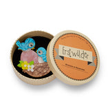 YOUNG LOVE (Erstwilder Resin Birds Brooch) - Glitterally.co.uk