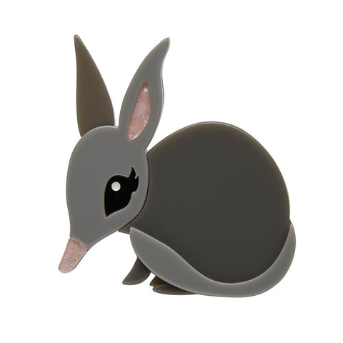 BLUSHING BILBY BROOCH (Erstwilder Resin Bilby Brooch) - Glitterally.co.uk