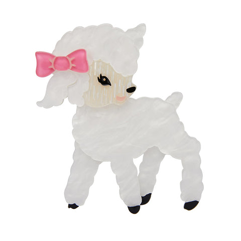 DOLLY THE DAINTY (Erstwilder Resin Lamb Brooch) - Glitterally.co.uk