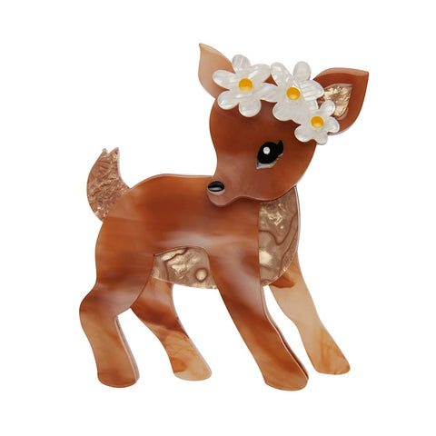 BUTTERCUP (Erstwilder Resin Fawn Brooch) - Glitterally.co.uk