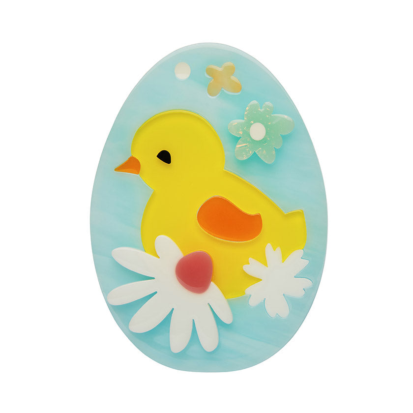 BABY BLOOMER (Erstwilder Resin Chick Brooch) - Glitterally.co.uk