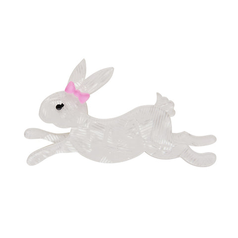 Marshmallow Rabbit Brooch (Erstwilder Resin Brooch)