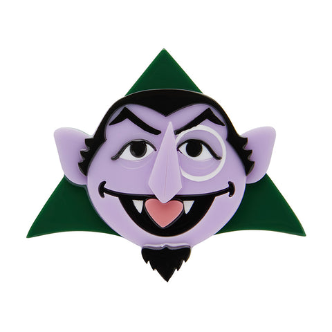 Count Von Count Brooch (Erstwilder Sesame Street Count Von Count Resin Brooch) - Glitterally.co.uk