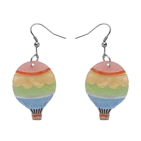 Around the World Earrings (Erstwilder Resin Hot Air Balloon Earrings) - Glitterally.co.uk