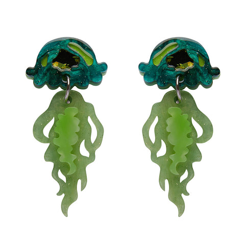 Slippin Under Jellyfish Earrings (Erstwilder Resin Jellyfish Earrings) - Glitterally.co.uk