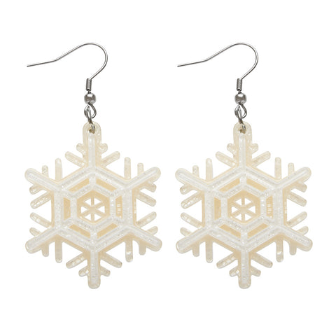 WINTER WONDERLAND EARRINGS (Erstwilder Resin Snowflake Earrings)
