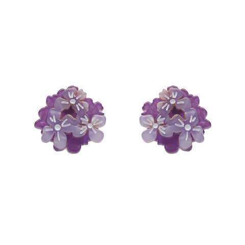 HEARTFELT HYDRANGEA (Erstwilder Resin Hydrangea Earrings) - Glitterally.co.uk