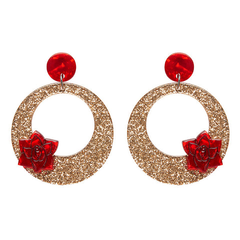 El Pendiente Earrings (Erstwilder Resin hoop earrings) - Glitterally.co.uk