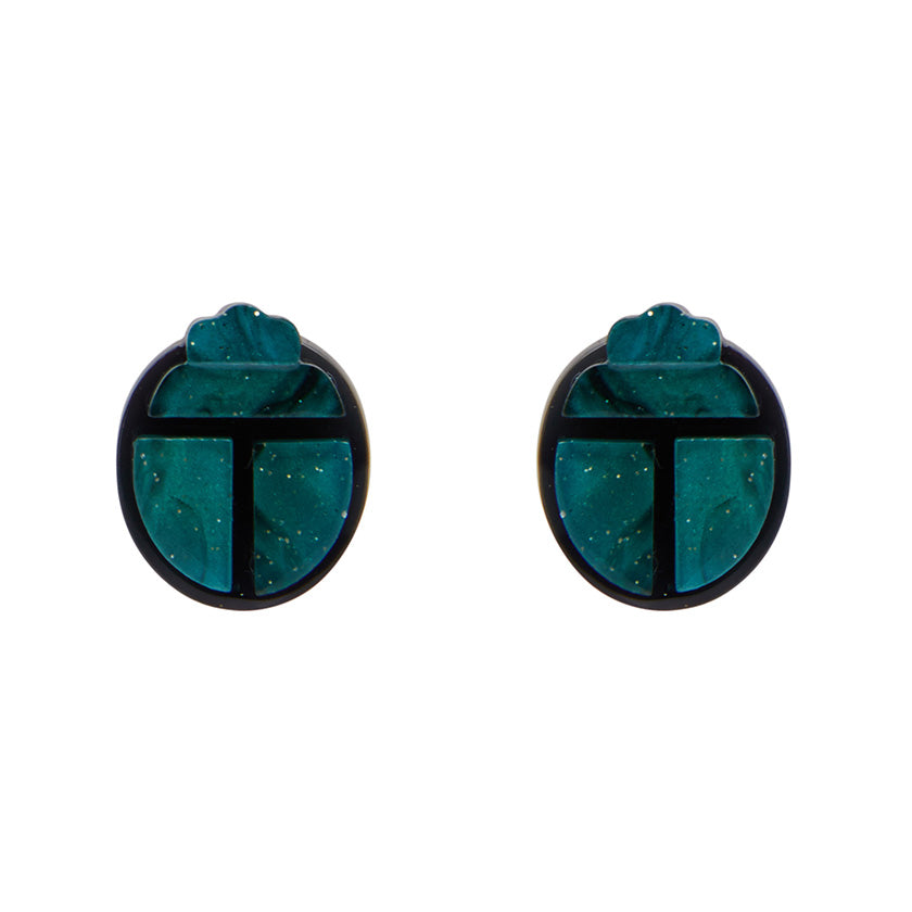 ANCIENT EGYPT REVIVAL EARRINGS (Erstwilder Art Deco Resin Earrings) - Glitterally.co.uk