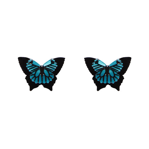 Blue Emperor (Erstwilder Resin Butterfly Earrings) - Glitterally.co.uk