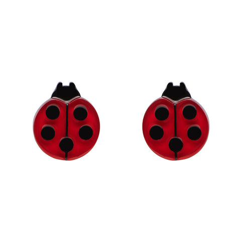 OUR LADY'S BIRD (Erstwilder Resin Ladybird Earrings) - Glitterally.co.uk