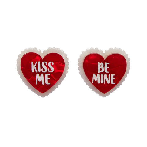 Be Mine, Valentine Earrings (Erstwilder Resin Heart Earrings) - Glitterally.co.uk