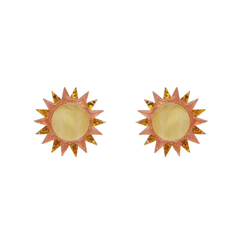 Golden Ray Earrings (Erstwilder Resin Earrings)