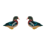 Mallard Ballard Stud Earrings (Erstwilder Resin Earrings)
