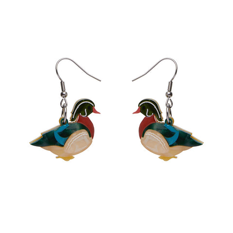 Mallard Ballard Drop Earrings (Erstwilder Resin Earrings)