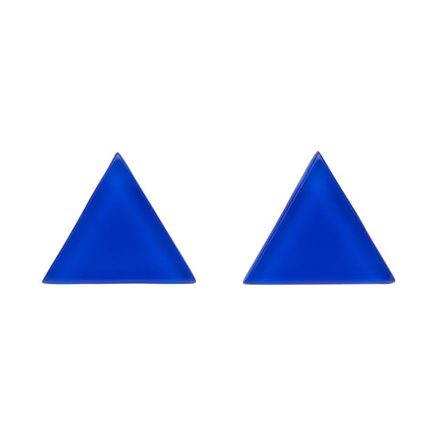 Blue Bubble Triangle Studs (Erstwilder Essentials Resin Earrings) - Glitterally.co.uk