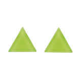 Green Bubble Triangle Studs (Erstwilder Essentials Resin Earrings) - Glitterally.co.uk