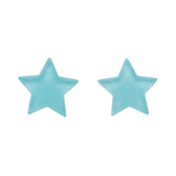 Mint Bubble Star Studs (Erstwilder Essentials Resin Earrings) - Glitterally.co.uk