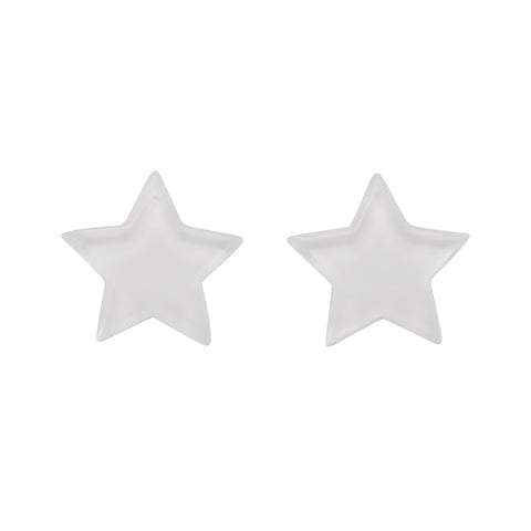 White Star Studs (Erstwilder Essentials Resin Earrings) - Glitterally.co.uk