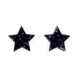 Blue Chunky Glitter Star Studs (Erstwilder Essentials Resin Earrings) - Glitterally.co.uk