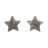 Silver Textured Star Studs (Erstwilder Essentials Resin Earrings)